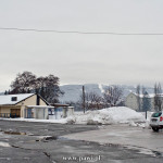 Maribor w strugach zimowego deszczu