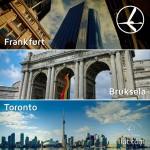 """Promocja """"Szalona Środa"""" LOT'u – 09.07.2014r. Frankfurt 379 zł, Bruksela 439 zł oraz  Toronto 1999 zł."""