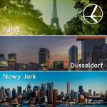 """Promocja """"Szalona Środa"""" LOT'u – 23.07.2014r. Paryż, Düsseldorf od 379 zł oraz Nowy Jork od 1999 zł."""