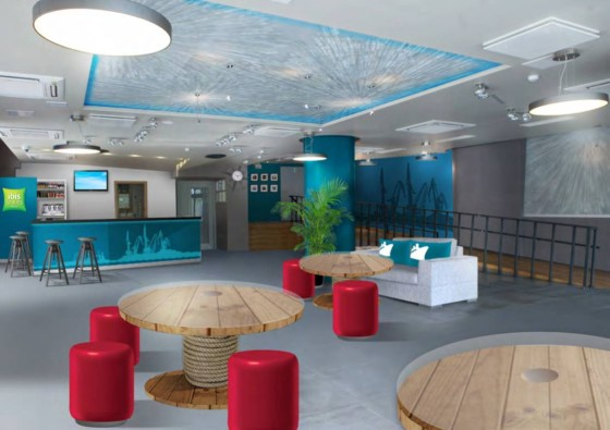 Lobby w ibis Styles Riga