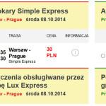 Bilety autokarowe w Simple Express 60% taniej. Z Warszawy do Wilna, Tallinna, Berlina, Pragi oraz Rygi od 28 zł.
