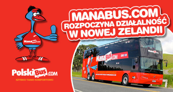 PolskiBus.com_ManaBus.com rozpoczyna działalność w Nowej Zelandii