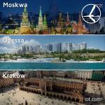 """Promocja """"Szalona Środa"""" LOT'u – 07.01.2015r. Kraków od 199 zł, Odessa od 499 zł oraz Moskwa od 699 zł."""