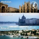 """Promocja """"Szalona Środa"""" LOT'u – 28.01.2015r. Belgrad, Budapeszt oraz Mediolan od 369 zł."""