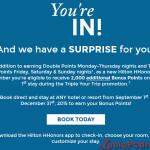 Potrójne punkty w Hilton HHonors! Dodatkowe możliwości zdobycia bonusowych punktów.