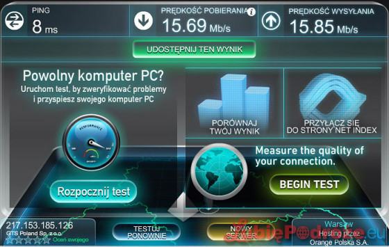 hilton by hampton gdansk airport internet speed