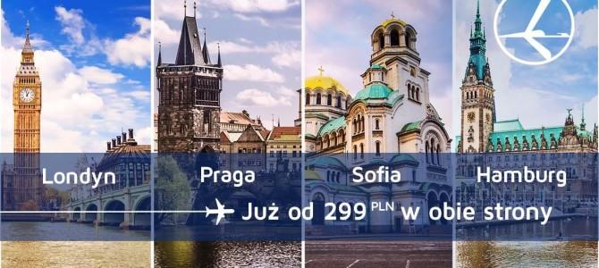 """Promocja """"Szalona Środa"""" LOT'u – 04.11.2015r. Praga już od 299 zł, Londyn, Hamburg oraz Sofia już od 449 zł."""