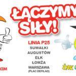 PolskiBus.com i Żak Express łączą siły na trasie  P25 Warszawa–Łomża–Ełk–Augustów–Suwałki