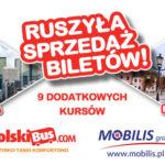 Rusza sprzedaż biletów na wspólną trasę Polskibus.com i MobilisGroup Płock-Warszawa