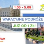 Wakacyjny kalendarz na podróże już od 1 zł na trasie Lublin – Kraków!