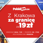 Z Krakowa za granicę za 19 zł z PolskiBus.com!