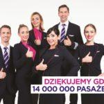 Wizz Air świętuje 14 milionów pasażerów w Gdańsku