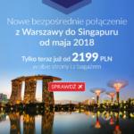 Promocja: LOT'em z Polski do Singapuru od 2199 zł!