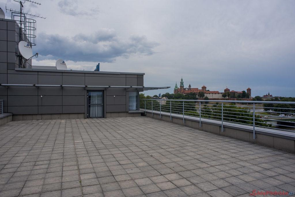 Novotel Kraków Centrum taras na dachu w apartamencie