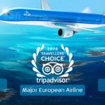 Trzy nagrody dla KLM od TripAdvisor