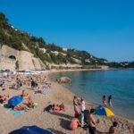 Plaża w Villefranche-sur-Mer obok Nicei