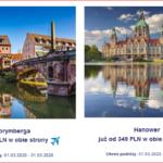 """Promocja """"Szalona Środa"""" LOT'u – 05.02.2020 r. Ceny biletów od 349 PLN w dwie strony."""