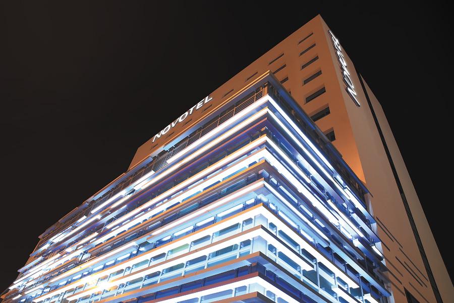 Podświetlona fasada