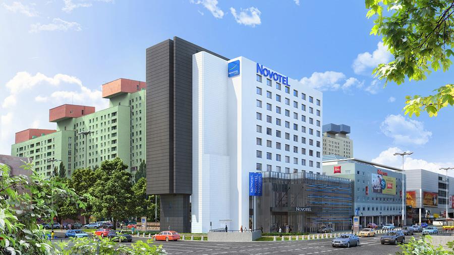 Wizualizacja fasady hotelu